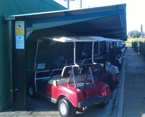 EUROPA PREFABRI- Marquesina especial para carros de golf