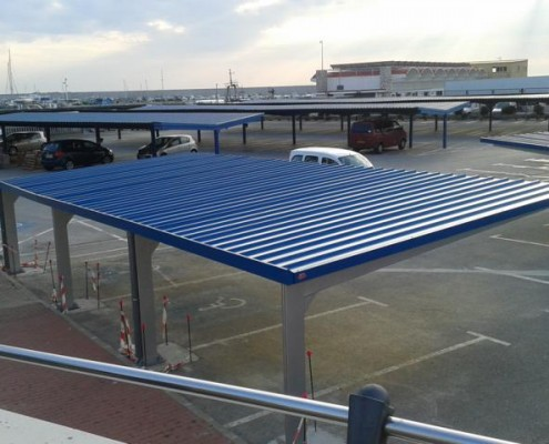 Europa - Marquesinas de aparcamiento para coches
