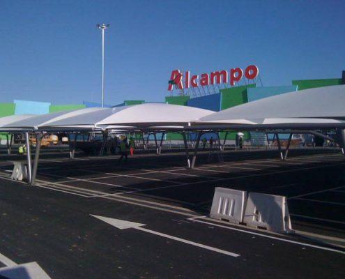 marquesinas de aparcamiento para el centro comercial en toledo