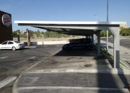 marquesinas de parking para un burger king en madrid 01