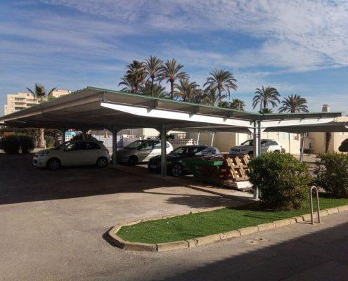 marquesinas para coches en una comunidad de propietarios en alicante 06