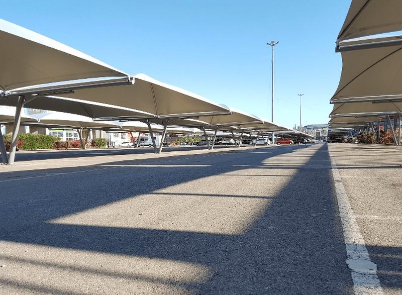 cubierta aparcamiento