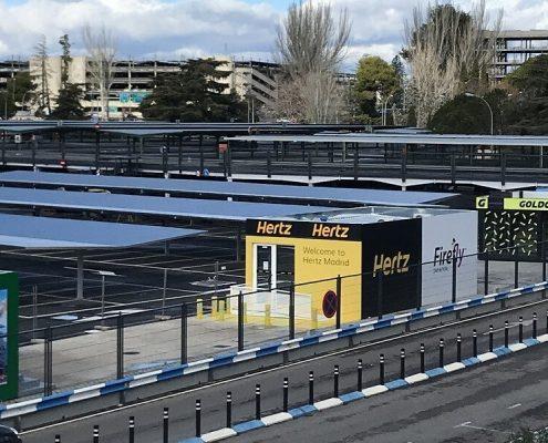 marquesinas para coches y pasillos peatonales para el aeropuerto madrid-barajas 03